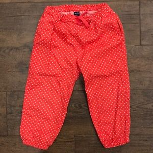 Baby Gap 3T Pink/White Stars Pants - 100% Cotton